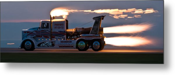Rocket Truck At Dusk Metal Print