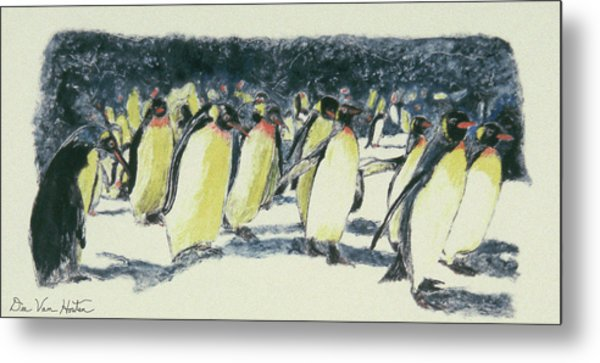 Penguin Rockhoppers Metal Print