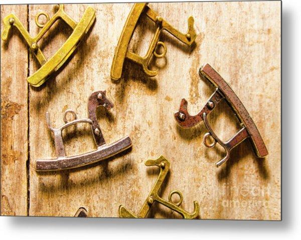 Rocking Horses Art Metal Print