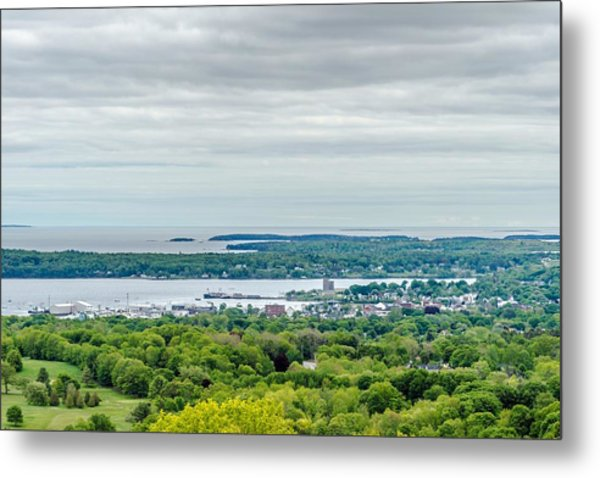 Rockland From Dodge's Mountain Metal Print