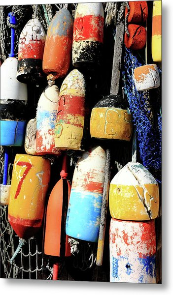 Rockport Buoys Metal Print