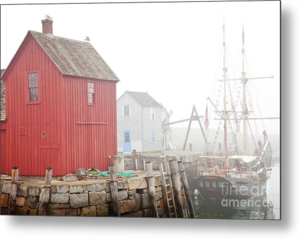 Rockport Fog Metal Print