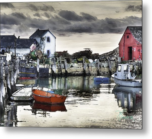 Rockport Harbor Early Morning Metal Print