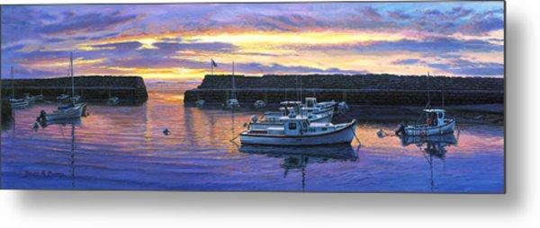 Rockport Ma Sunset Metal Print by Bruce Dumas