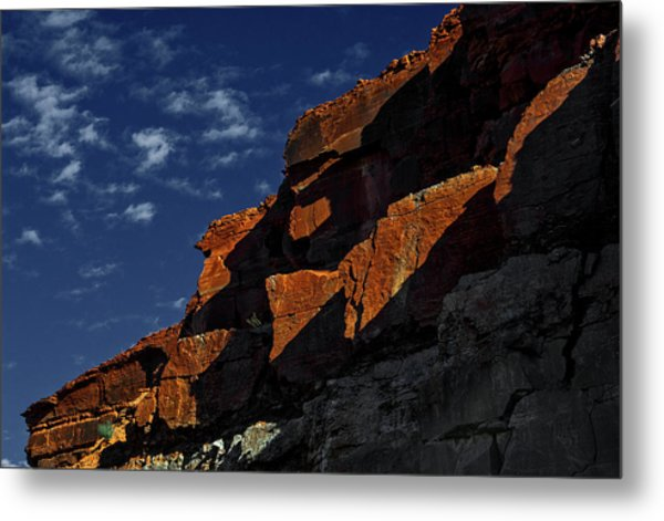 Sky And Rocks Metal Print