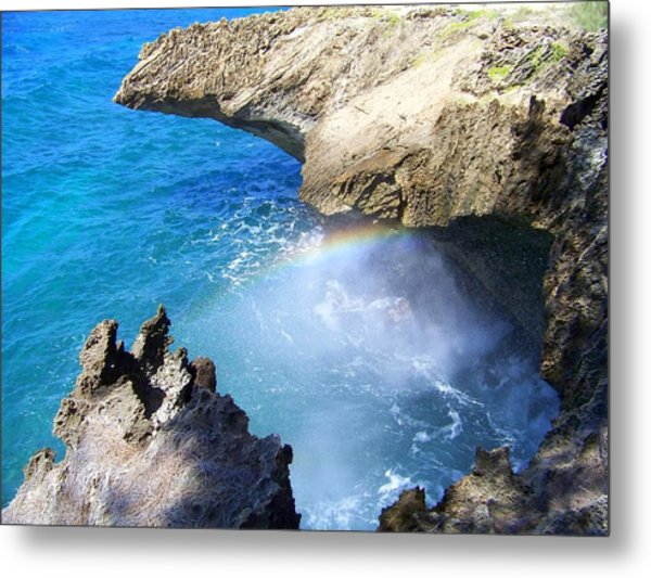Rocks And Rainbow Metal Print