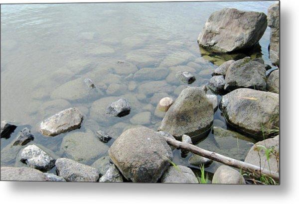 Rocks And Water Metal Print