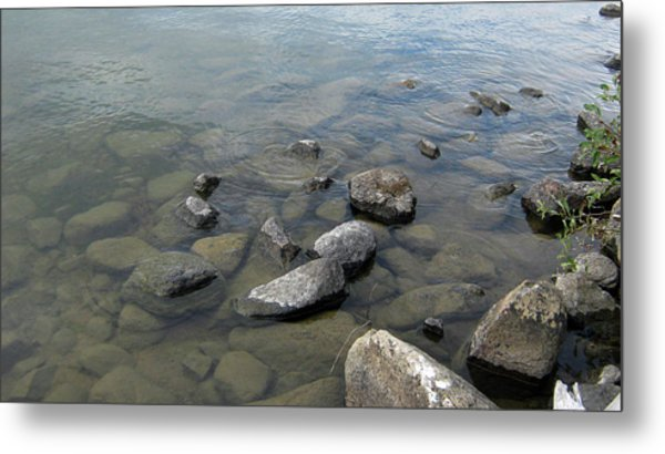 Rocks And Water Too Metal Print
