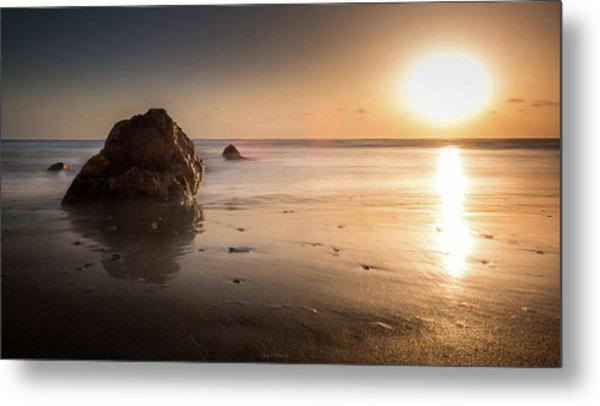 Rocks At Sunset 3 Metal Print