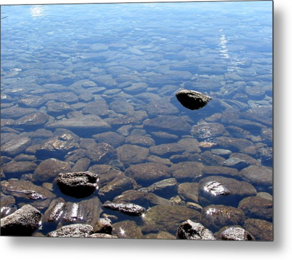 Rocks In Calm Waters Metal Print