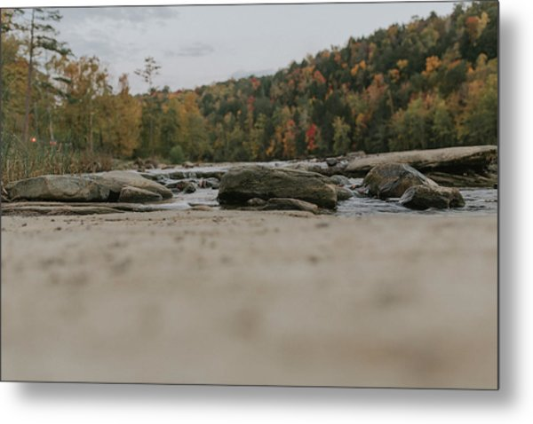 Rocks On Cumberland River Metal Print