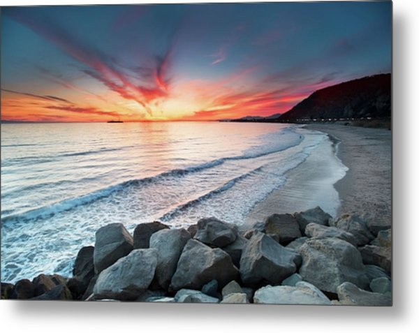 Rocks On Sea Metal Print