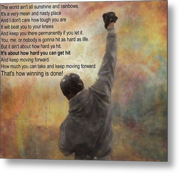 Rocky Balboa Inspirational Quote Metal Print