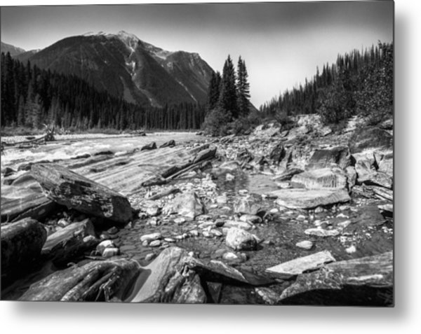 Rocky Banks Of Kootenay River Metal Print