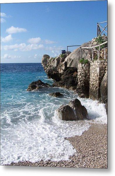 Rocky Beach On Capri Metal Print by Adam Schwartz