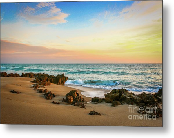 Metal Print featuring the photograph Rocky Beach by Tom Claud