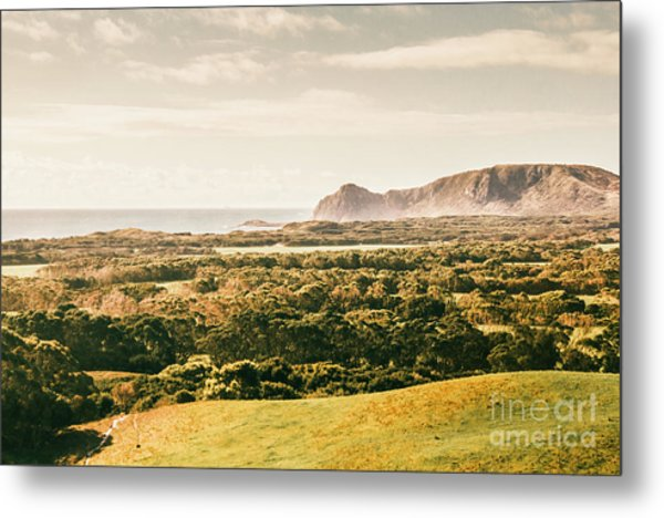 Rocky Capes And Rugged Coasts Metal Print