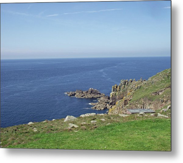 Rocky Coastline At Land's End Metal Print