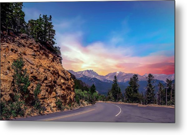 Rocky Mountain High Road Metal Print
