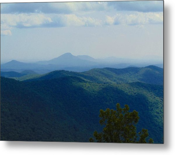 Rocky Mountain Overlook On The At Metal Print