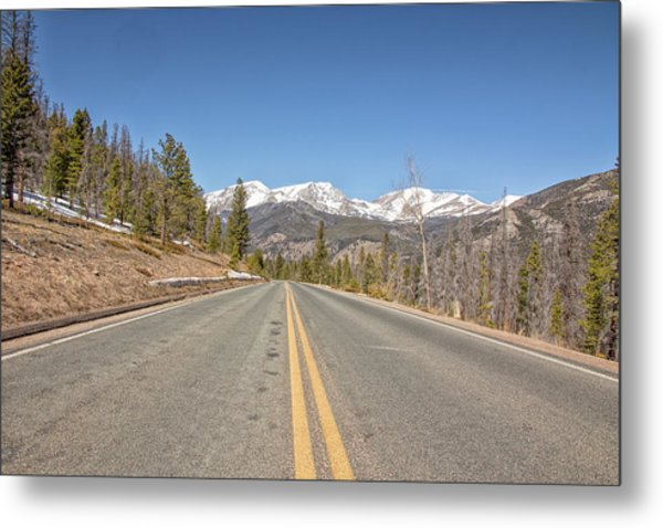 Rocky Mountain Road Heading Towards Estes Park, Co Metal Print