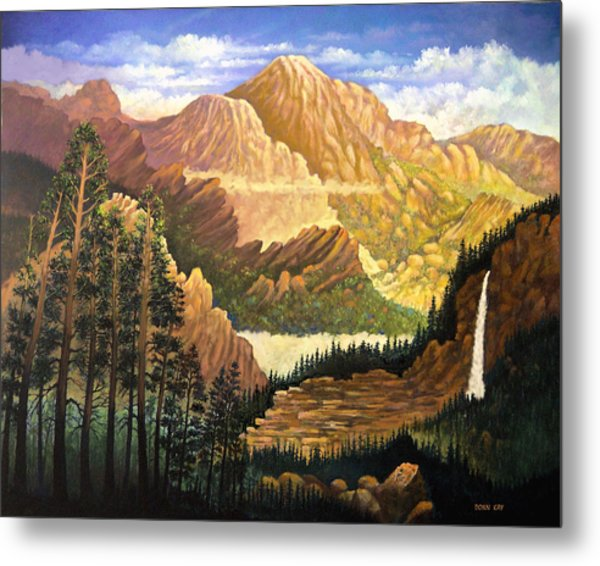 Rocky Mountain Sunrise Metal Print by Donn Kay