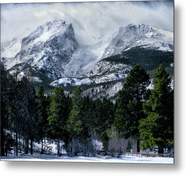 Rocky Mountain Winter Metal Print