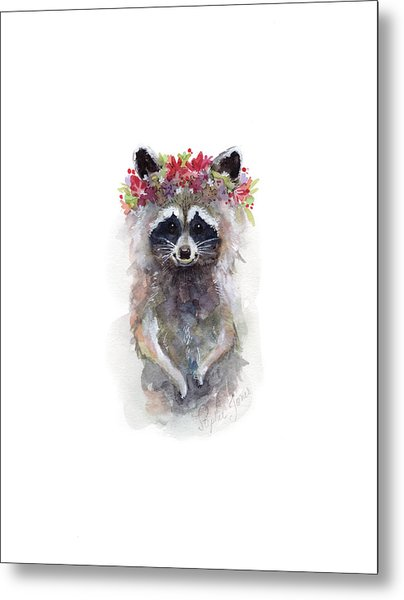 Rocky Raccoon Metal Print