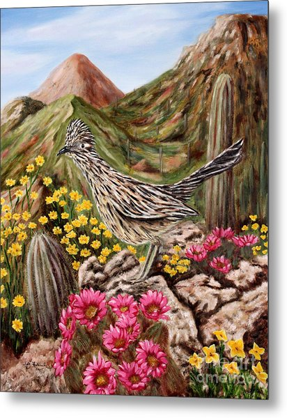 Rocky Road Runner Metal Print