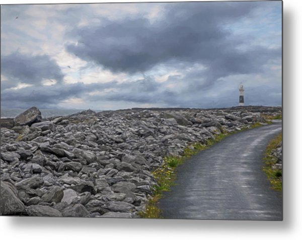 Rocky Road To The Lighthouse Metal Print