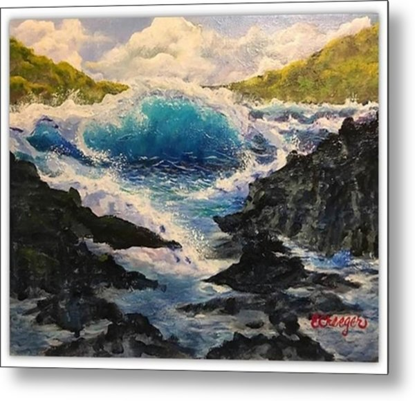 Rocky Sea Metal Print