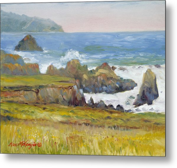 Rocky Shore Breakers Metal Print by Max Mckenzie
