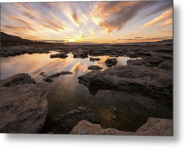 Rocky Shores Of Utah Lake Metal Print