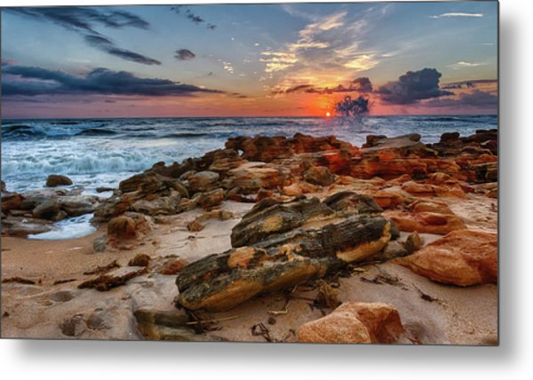 Rocky Sunrise Metal Print