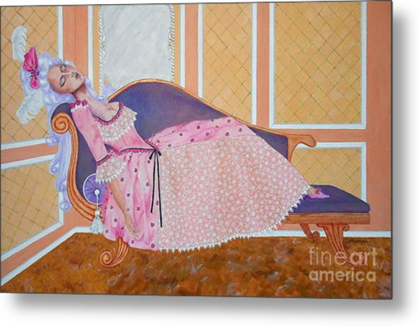 Rococo Coquette -- Mme. Pompadour, #2 In Famous Flirts Series Metal Print