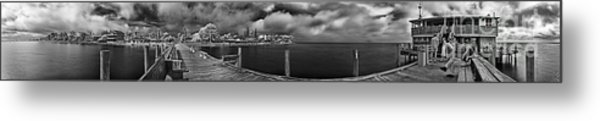Rod And Reel Pier In Infrared Metal Print