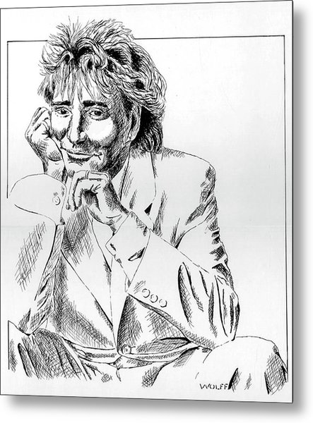 Rod Stewart Metal Print