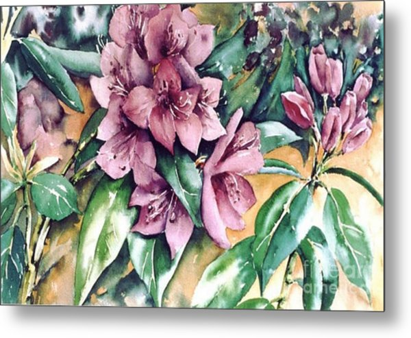 Rododendron Time Metal Print by Marta Styk