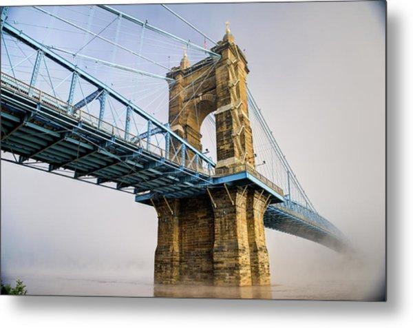 Metal Print featuring the photograph Roebling Suspension Bridge 2 by Rick Hartigan