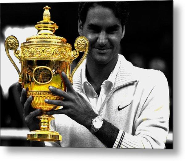 Roger Federer 2a Metal Print