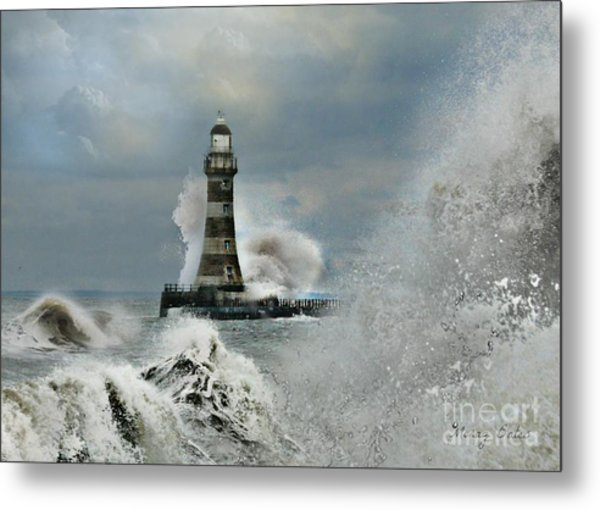 Roker Pier And Lighthouse Metal Print