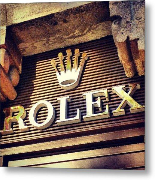 #rolex #watch #igdaily #android #ighub Metal Print