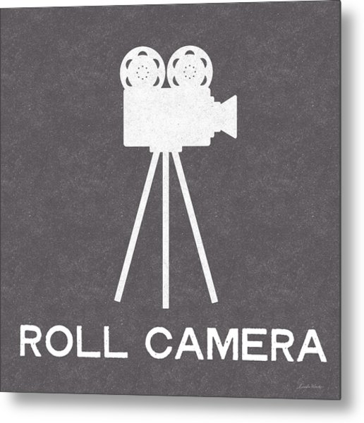 Roll Camera- Art By Linda Woods Metal Print