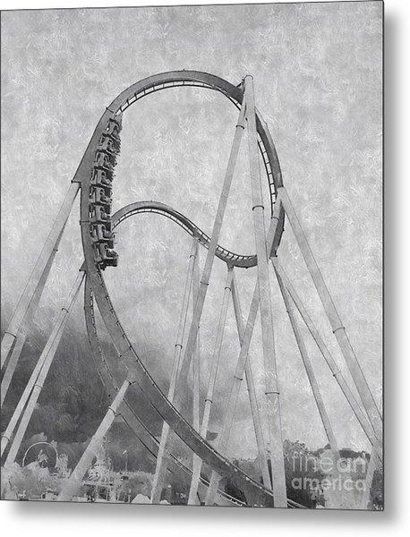 Hulk Roller Coaster Ride Metal Print