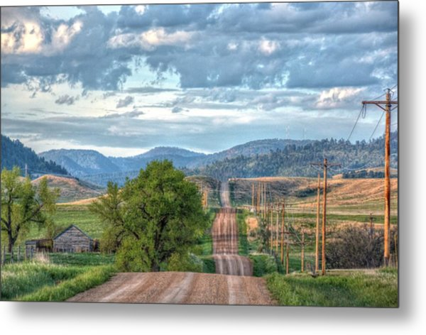 Rollercoaster Country Road Metal Print