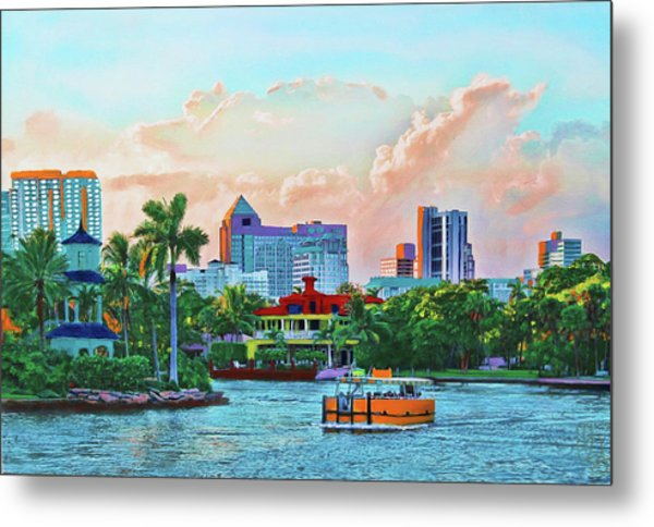 Rolling Down The New River Metal Print