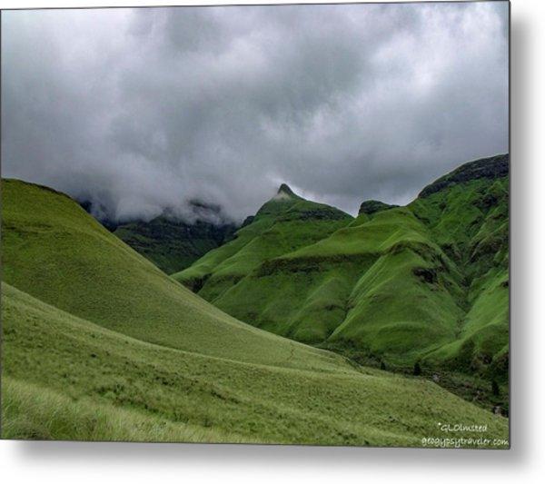 Rolling Green Drakensberg Mountains Metal Print