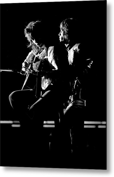Rolling Stones 1970 Mick And Keith Live Metal Print