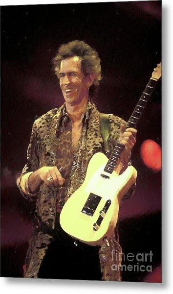 Rolling Stones Keith Richards Painting Metal Print