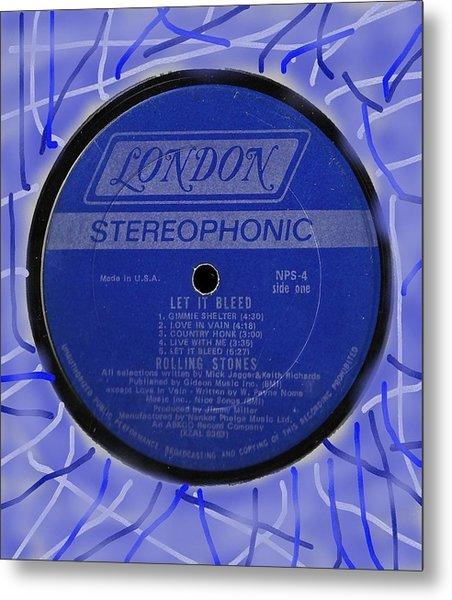 Rolling Stones Let It Bleed Lp Label Metal Print